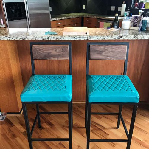 Chairs by Michael Leanes Design at Private Residence, Downtown Houston, TX, Houston - Bat Stools