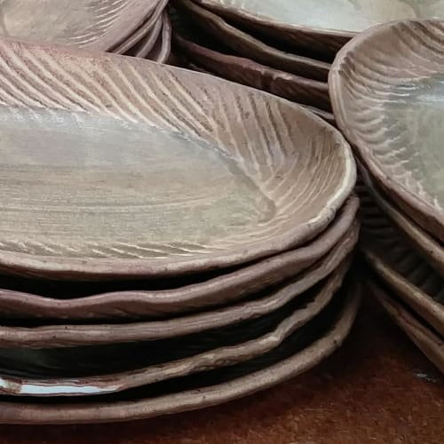 Ceramic Plates by Crazy Green Studios at Tandem, Carrboro - Entree Platter