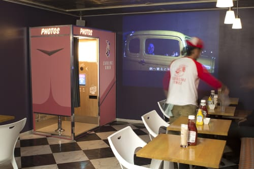 Furniture by Chris Reardon at Caroline Diner, Shibuya-ku - Photo Booth