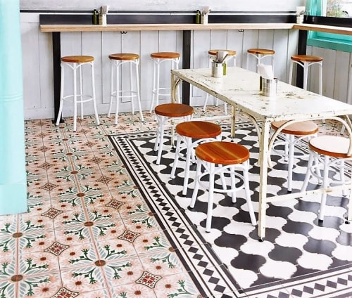 Tiles by avente tile wescover tiles by avente tile at media noche restaurant san francisco mission cement tile ppazfo