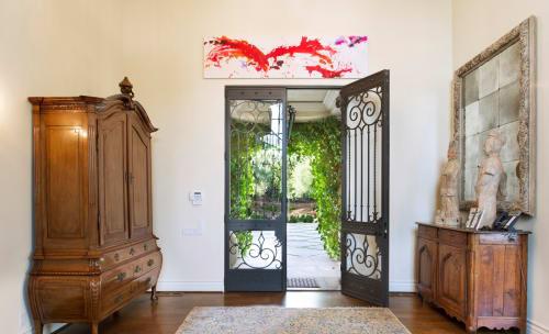Paintings by Amadea Bailey at Private Residence, Santa Barbara, CA, Santa Barbara - Explosion In Red