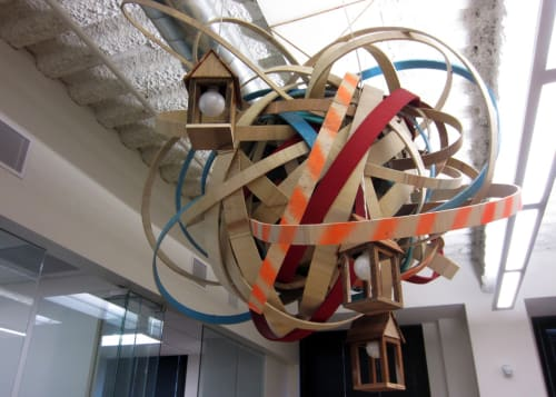 Public Sculptures by Erik Otto at Martinkovic Milford Architects, San Francisco - Brainstorm