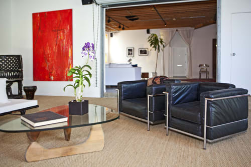 Paintings by Amadea Bailey at Private Residence, Venice, CA, Los Angeles - Dennis Hopper Installation (Red)