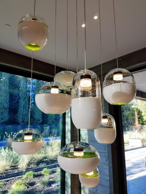 Chandeliers By Jess Wainer At Atherton Ca Wood Grain Chandelier