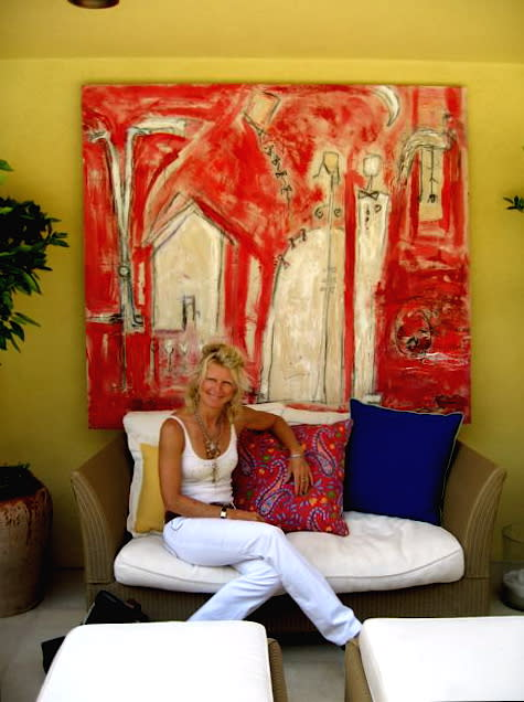 Paintings by Amadea Bailey at Oceana Hotel, Santa Monica - Oceana Hotel