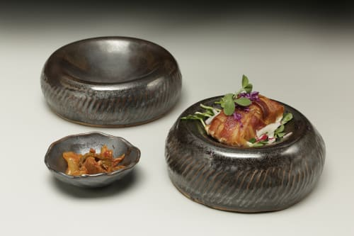 Tableware by Crazy Green Studios at Jargon, Asheville - Pillow/Reversible Bowls