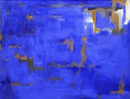 Paintings by Amadea Bailey at Private Residence, Brentwood, Los Angeles, CA, Los Angeles - Blue