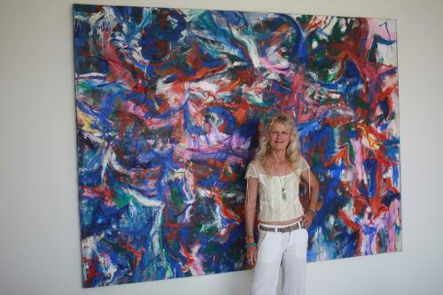 Paintings by Amadea Bailey at Private Residence, Santa Monica, CA, Santa Monica - Full Moon