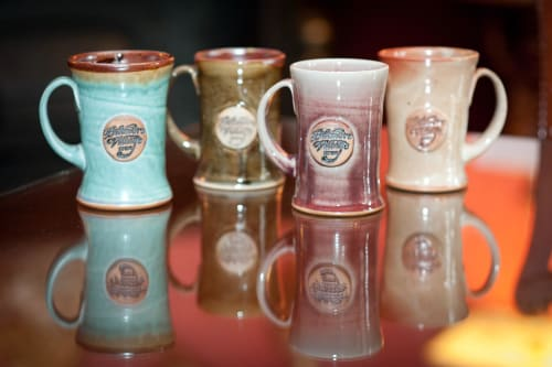 Tableware by Crazy Green Studios at Biltmore Village Inn, Asheville - Branded Mugs