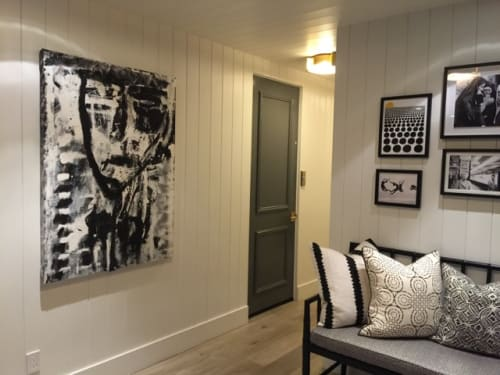 Paintings by Amadea Bailey at Private Residence, Manhattan Beach, Manhattan Beach - Dramatic Black and White Painting