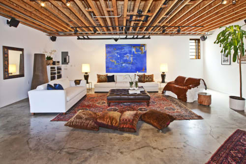 Paintings by Amadea Bailey at Private Residence, Venice, CA, Los Angeles - Dennis Hopper Installation (Blue)