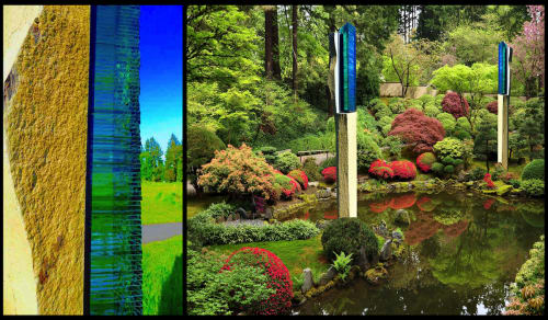 Sculptures by Walter Gordinier at Private Residence, Easthampton, NY, East Hampton - Zenith: Garden Sculptures