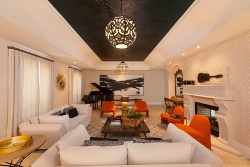Paintings by Amadea Bailey at Private Residence, Beverly Hills, CA, Beverly Hills - Large Scale Black and White Commission
