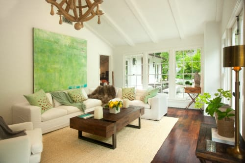 Paintings by Amadea Bailey at Private Residence, Santa Monica, CA, Santa Monica - Private Santa Monica Home Installation