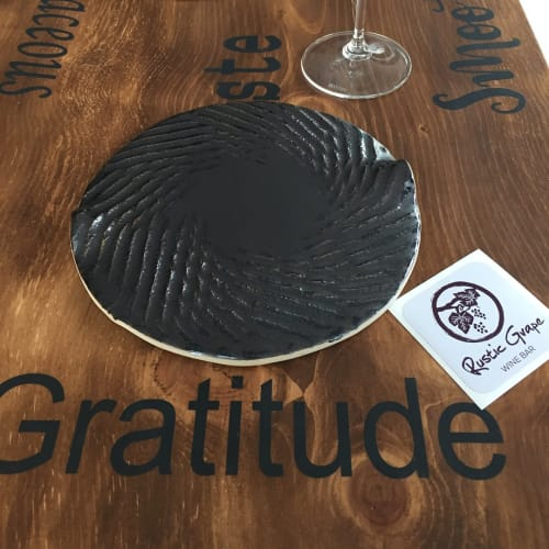 Ceramic Plates by Crazy Green Studios at Rustic Grape Wine Bar, Asheville - Tasting Plate