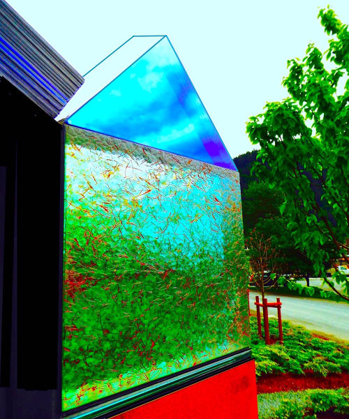 """Public Sculptures by Walter Gordinier at Private, Portland - """"Voices"""" Glass Detail"""