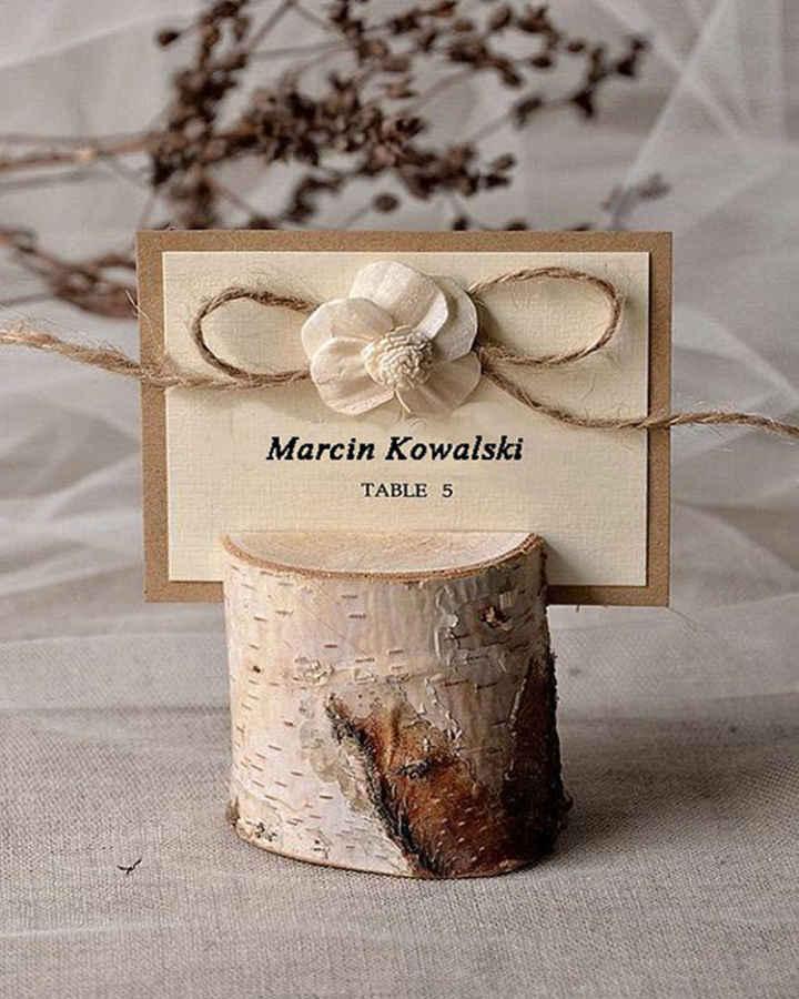 Pieńki, podstawki na winietki - styl rustykalny