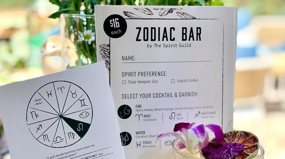 Zodiac Bar by The Spirit Guild at Terra