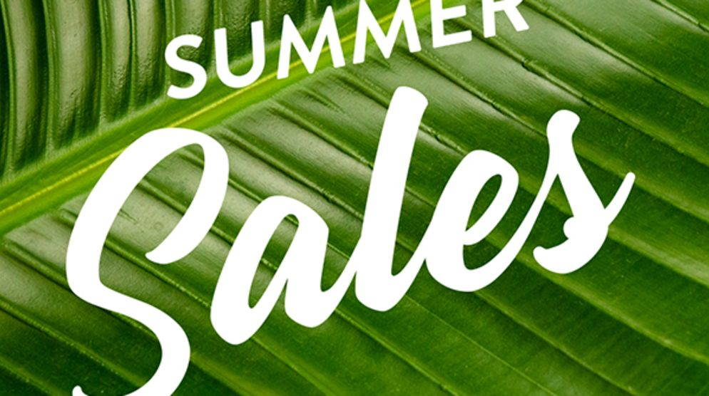 Summer Sales Now On!