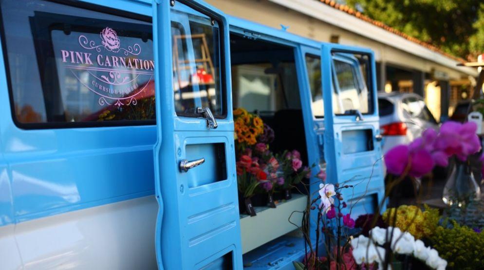 Pink Carnation Flower Truck