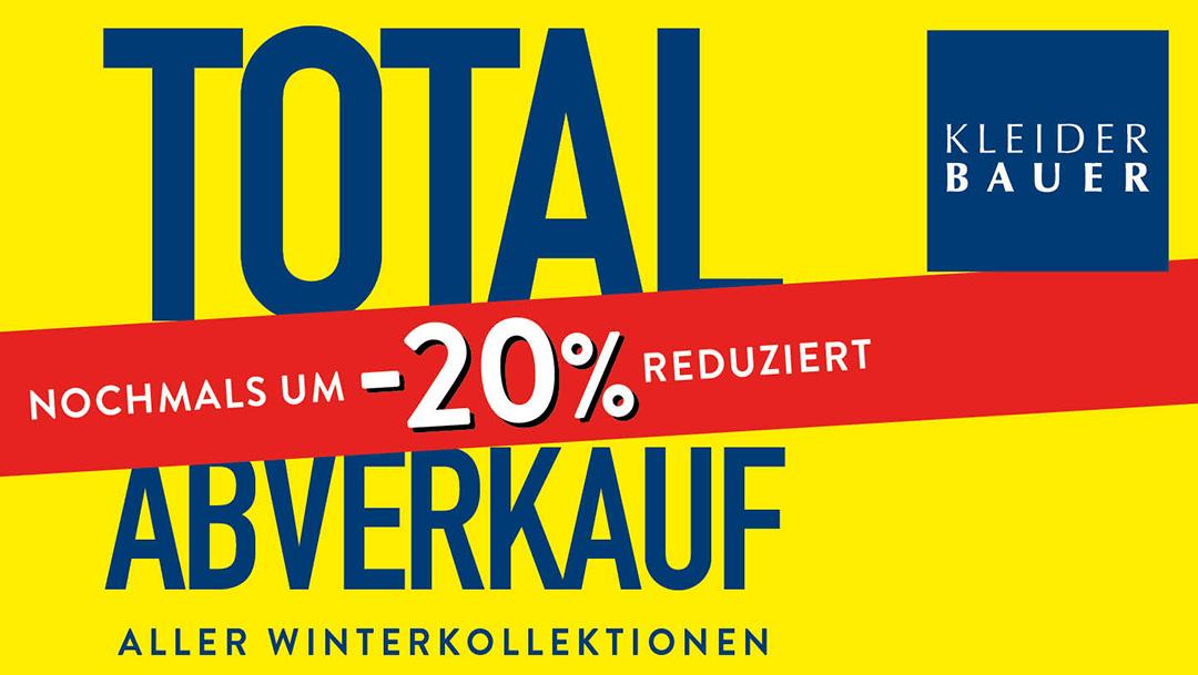 Kleider Bauer: Total Abverkauf aller Winterkollektionen