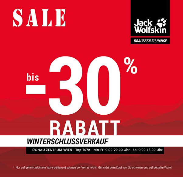 Winterschlussverkauf Jack Wolfskin