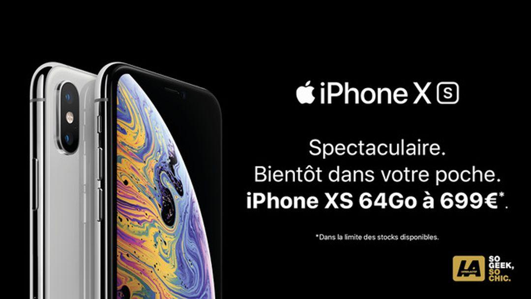 L'iPhone XS à 699€