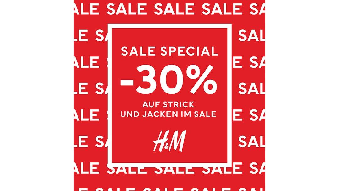 H&M: -30% auf Strick und Jacken im SALE