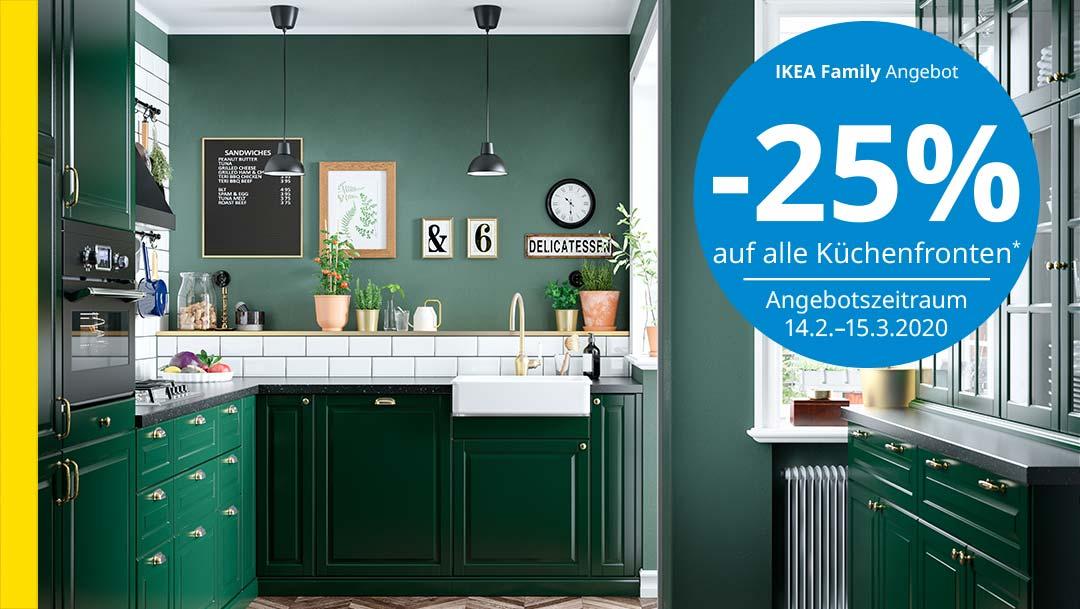 Ikea: -25% auf alle Küchenfronten
