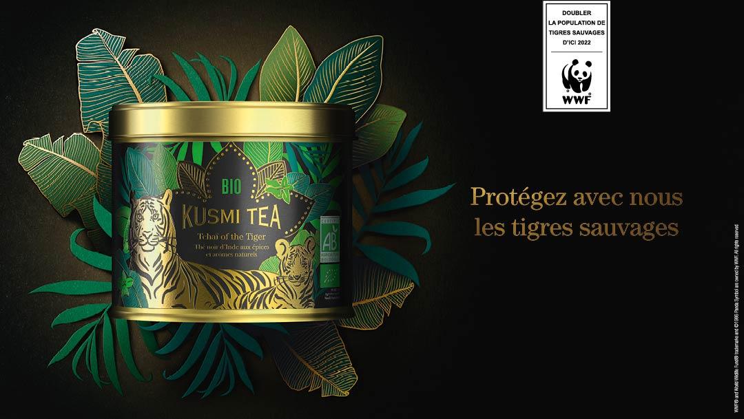 Kusmi Tea s'engage avec son nouveau thé Tchaï of the Tiger