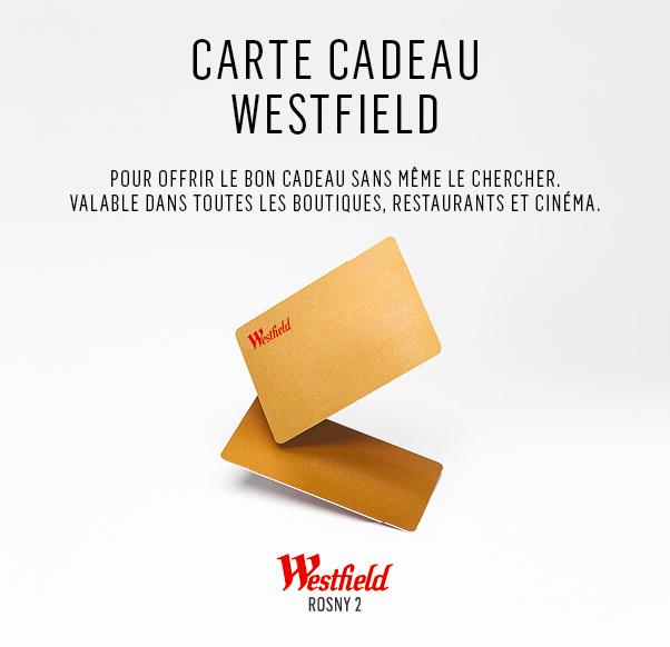 La carte cadeau Westfield