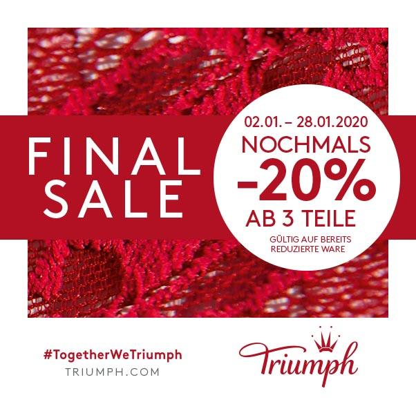 Triumph: Nochmals -20% ab 3 Teile*