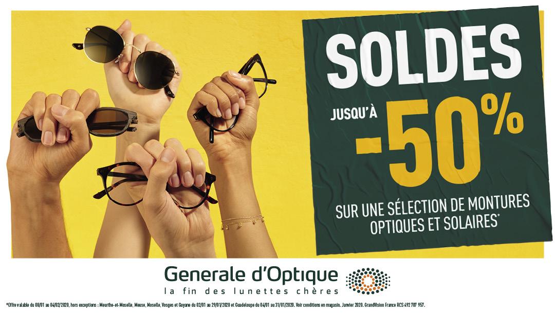 Les soldes d'hiver débutent chez Générale d'Optique !