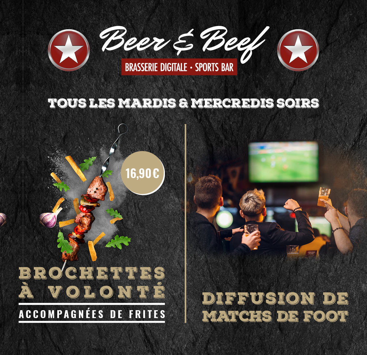 Beer & Beef, diffusion des matchs !