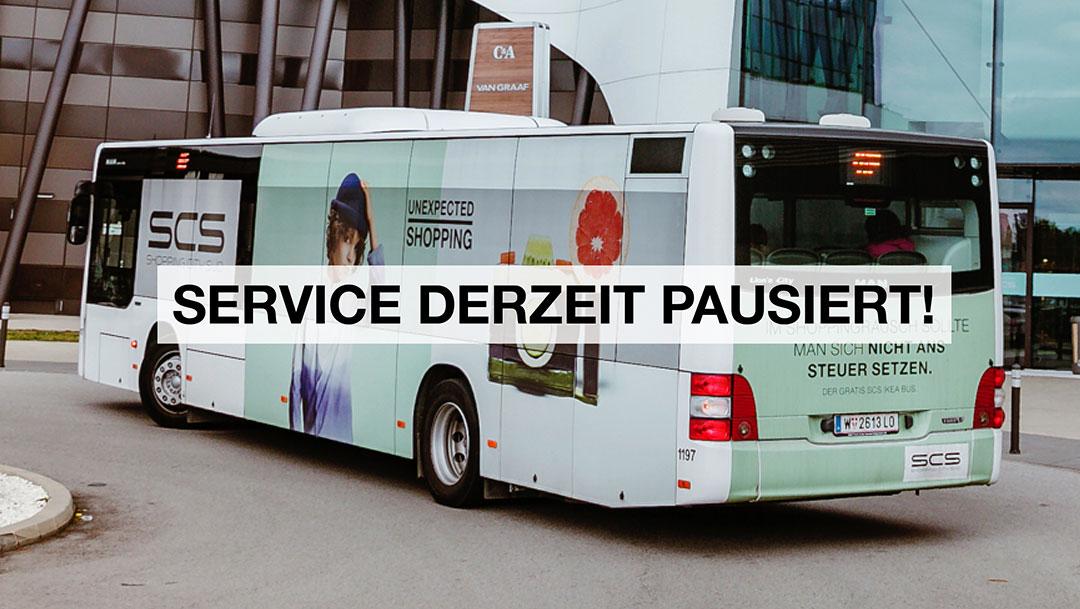 SCS Shuttle Bus Service ist bis auf weiters eingestellt
