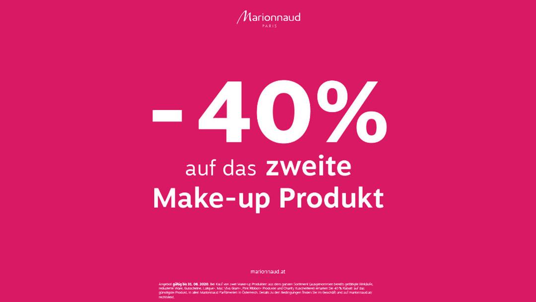 Marionnaud: -40% auf das zweite Make-up Produkt*