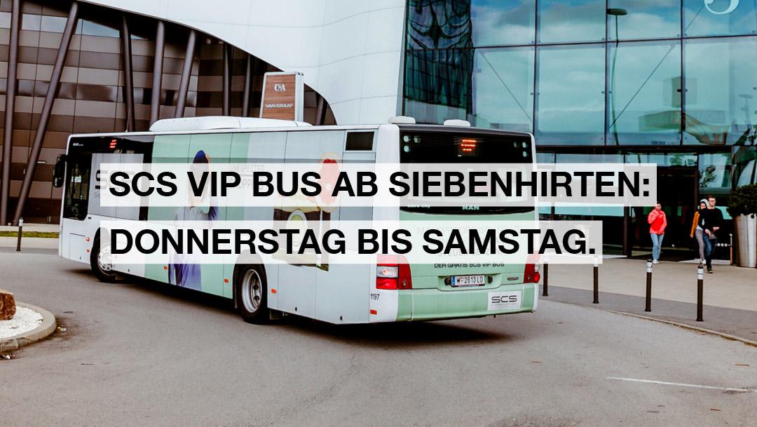 DER SCS VIP BUS FÄHRT WIEDER!