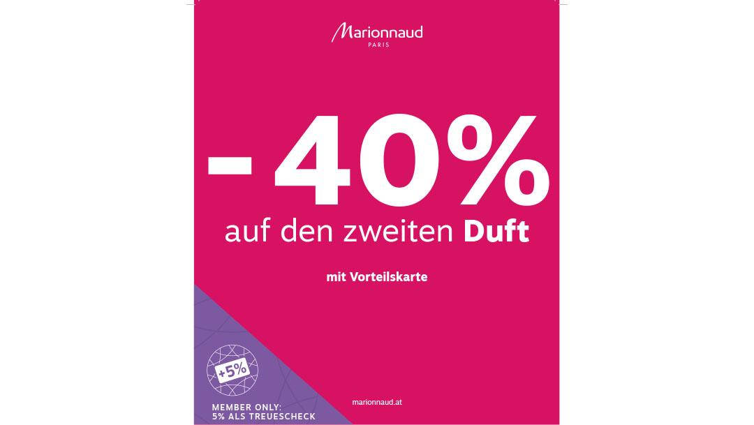 Marionnaud: -40% auf den zweiten DUFT
