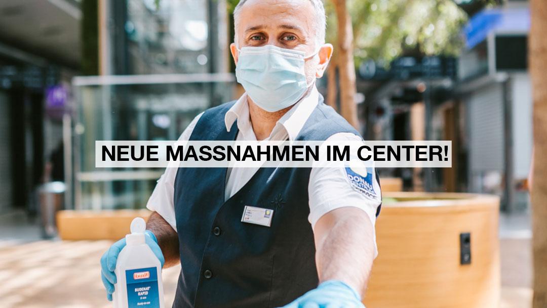 Neue Maßnahmen im Center: die Maskenpflicht ist zurück!