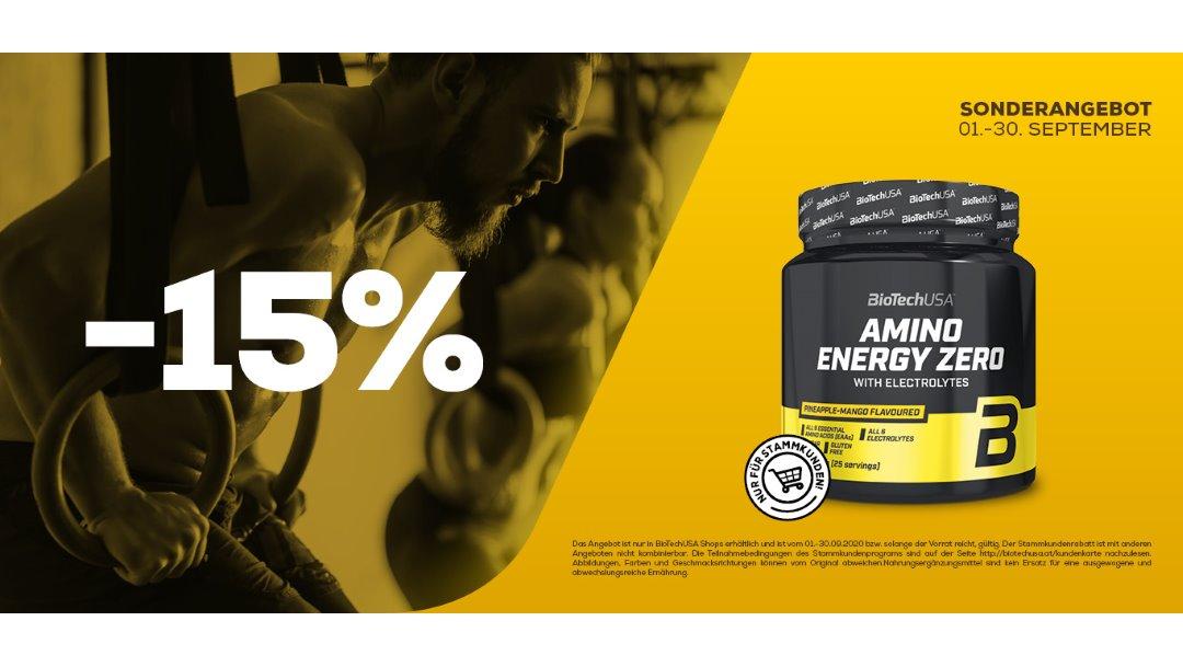 BioTechUSA: AMINO ENERGY ZERO with electrolytes 360 g -15%