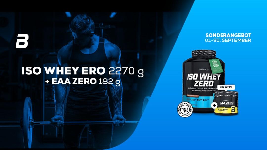 BioTechUSA: ISO WHEY ZERO 2270 g + EAA ZERO 182 g Gratis
