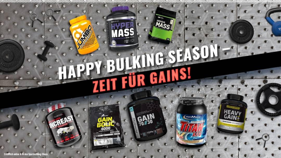 Bulking Season is coming: Zeit für den Aufbau mit Sportnahrung.at!