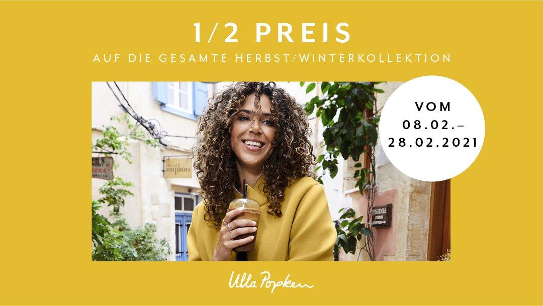 Ulla Popken: ½ Preis auf die Herbst/Winterkollektion