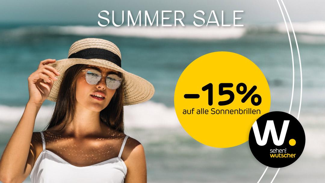 sehen!wutscher: -15% auf alle Sonnenbrillen*