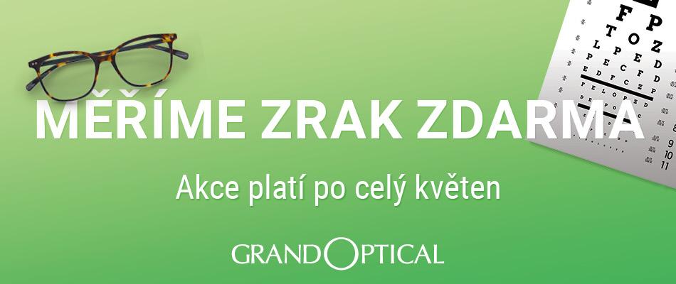 Měření zraku zdarma v GrandOptical!