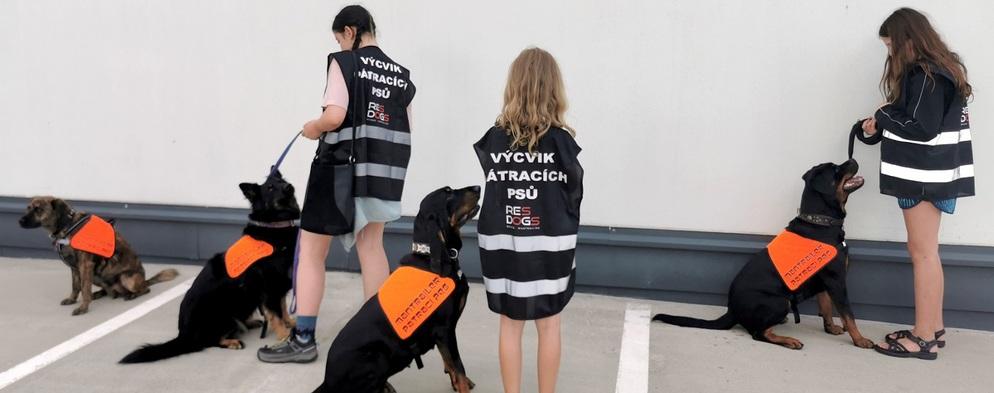 V Centru Černý Most trénují pátrací psi