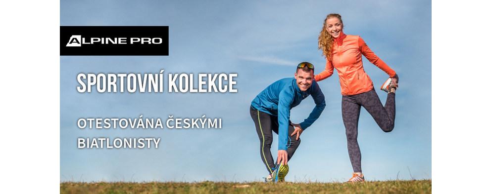 Sportovní kolekci ALPINE PRO  otestovali biatlonisté Markéta Davidová a Michal Krčmář