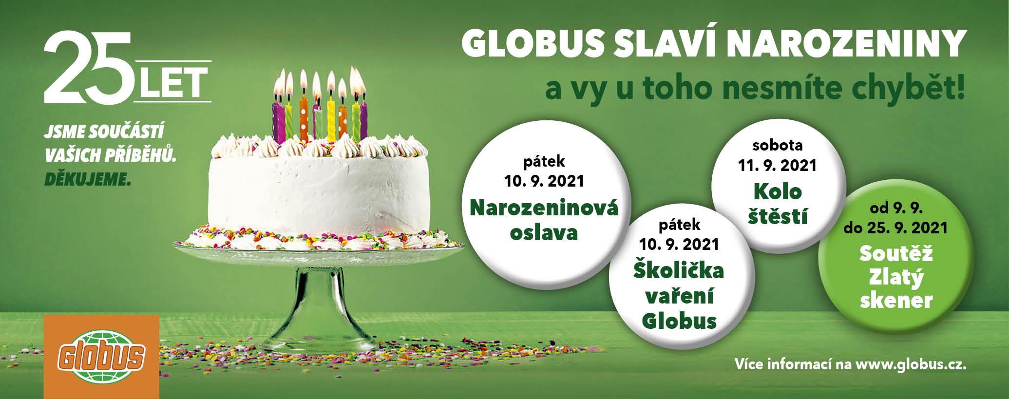 Globus slaví narozeniny