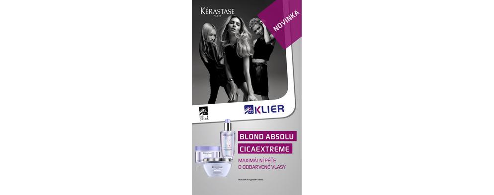 Kérasatse BLOND ABSOLU HUILE CICAEXTREME a BLOND ABSOLU MASQUE CICAEXTREME 200 ml.