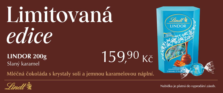 Lindor cornet 200g – Slaný karamel